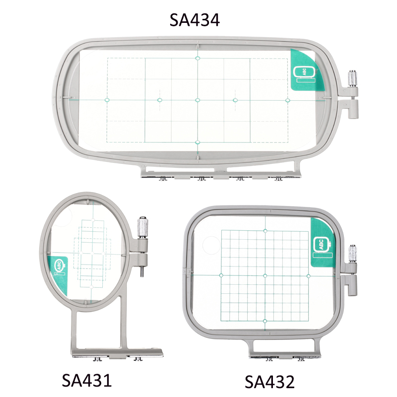 3PCS Embroidery Hoop Frame Set For Brother PE-500 PE-400D HE-240 LB-6700 Innov-is 955 950D 500D, Babylock, 3in1-A Sewing Machine