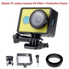 XIAO mi Xiaoyi UV фильтр Защита объектива и портативная защитная рамка для Xiao mi yi аксессуары для спортивной экшн-камеры xiaoyi