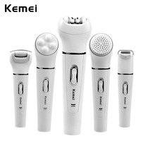 5 In 1 Women Shaver Wool Device Electric Shaver Razor Women Epilator Shaving Lady's Shaver Callus Remover Facial Cleansing Brush