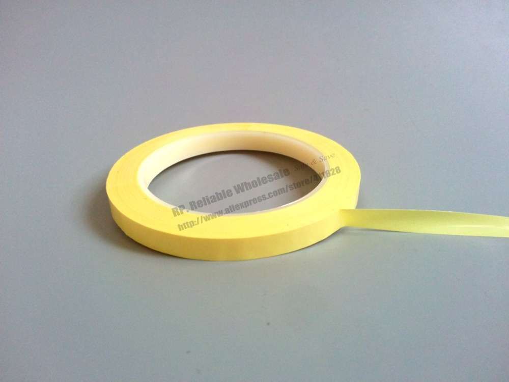 (5mm~28mm Wide Choose) 66M/roll,  Adhesive Insulation Mylar Tape For Transformer, Motor, Capacitor, Coil Wrap, Anti-Flame Yellow