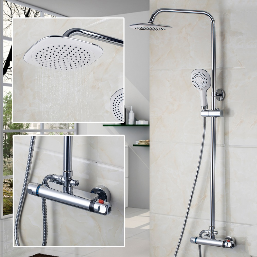 New Modern Bathroom Faucet Chrome Polished Shower Set Hot