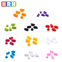 цена на HRH High Quality 100 Sets/Lot  Silicone Data Port Anti Dustproof Plug for Macbook New Pro Touch Bar Laptop Dust Plug Stopper Set