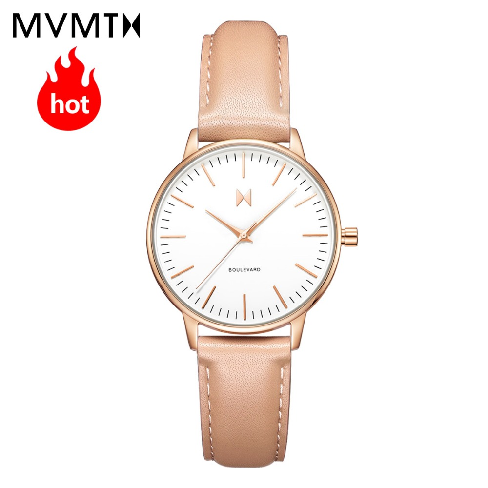 MVMT watch | Official flagship store trend fashion students women's female watch simple genuine leather quartz watch 38mmdw xiejiaer flagship store 8502 xxxl no