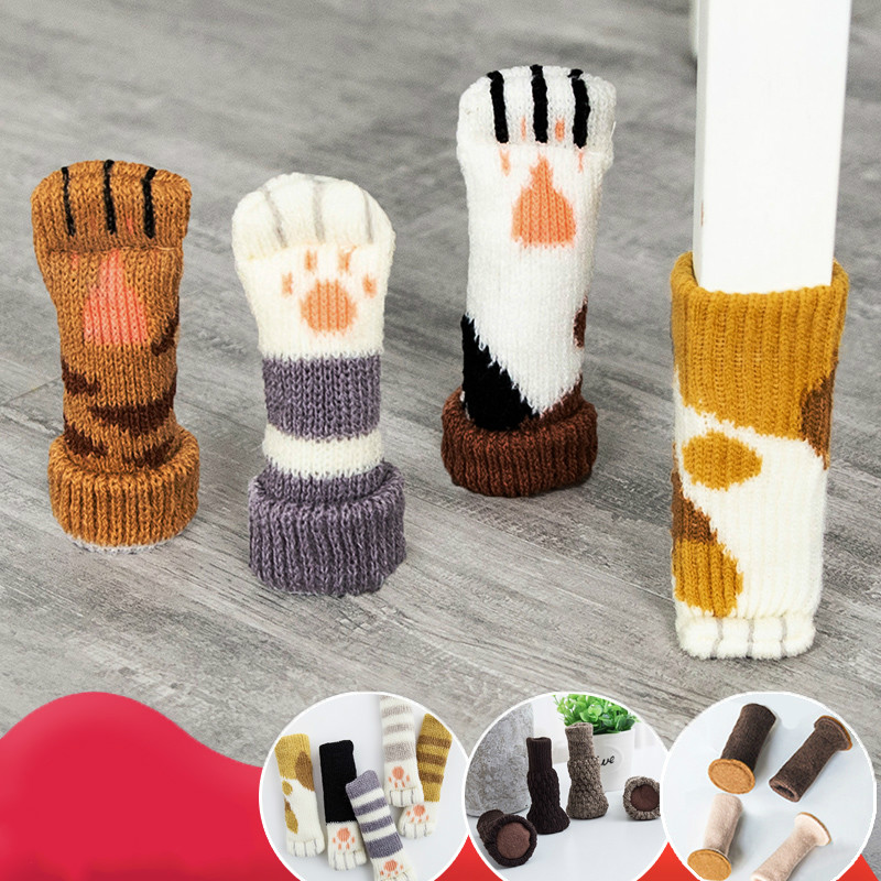 Japanese-Style Table Chair Leg Protection Cover Desk Stool Feet Floor Protectors Cover Knitting Floor Protection Pad Lovely Mute