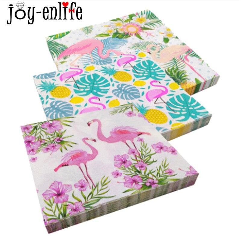 3c38aa5f7cefb1 JOY-ENLIFE 20 pcs Flamingo Serviette Papier Flamingo Thème Party ...