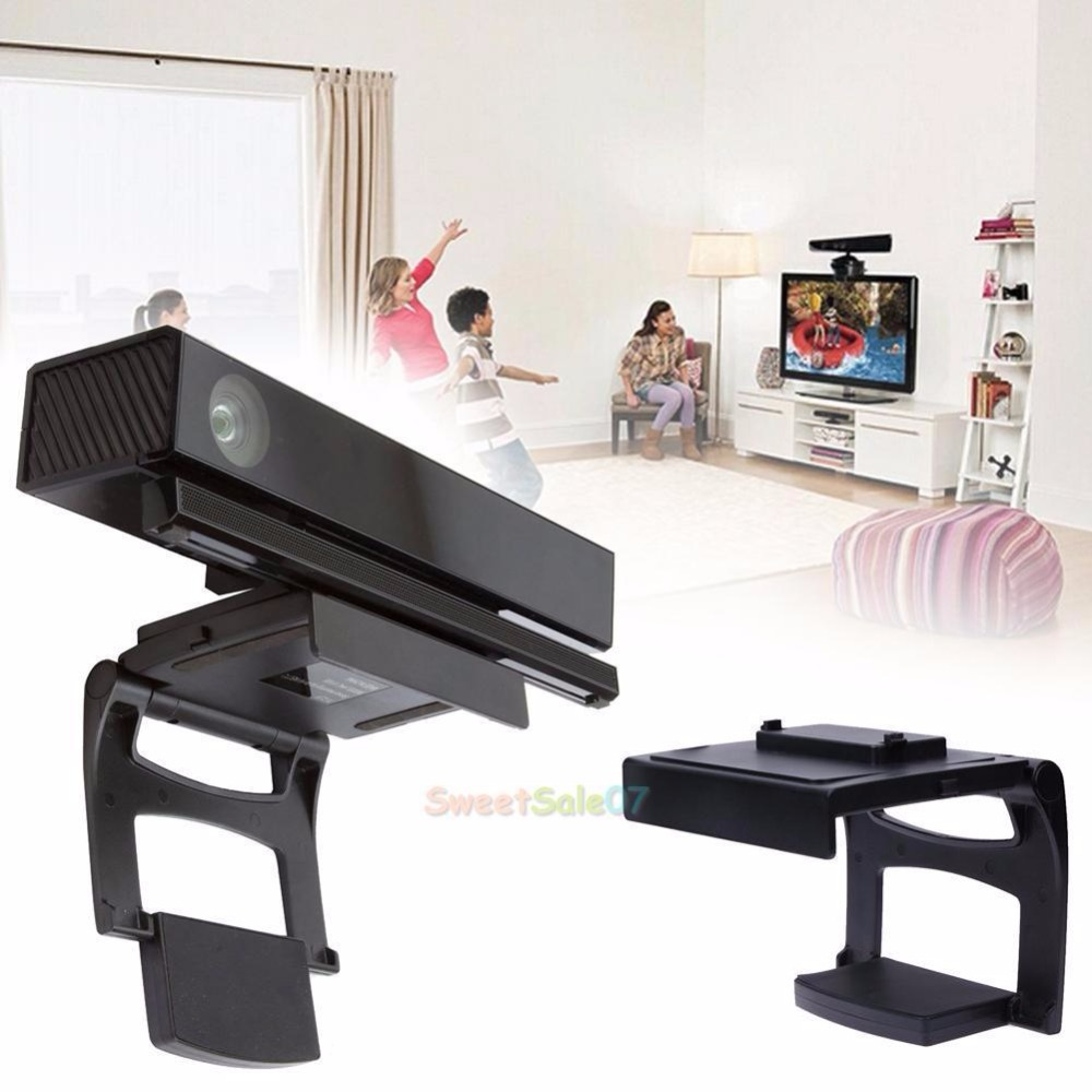 TV Adjustable Clip Stand Holder Sensor Game for XBOX ONE Kinect +Privacy Cover #0324