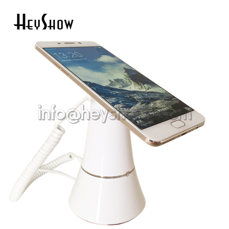 Mobile phone security display stand cellphone anti theft alarm iphone security holder with alarm and charging function white 5 set lot cell phone security anti theft display stand with alarm and charging function for mobile phone retail store exhibition