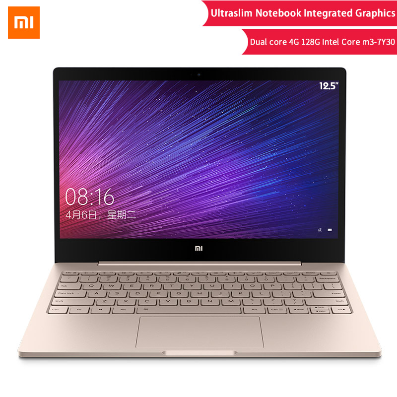 "Original Xiaomi Laptop Air 12.5"" Intel Core M3-7Y30 Dual Core Notebook 4GB 128GB Ultraslim Windows10 Backlit Keyboard Computer"