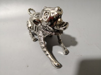 China Tibet silver The tiger sculpture decoration