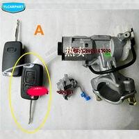 Para Geely Emgrand 7 EC7 EC715 EC718 Emgrand7  Emgrand7 RV EC7 RV  kit cilindro da fechadura da porta Do Carro  iginition estrela conjunto cilindro da fechadura|emgrand 7|geely emgrand 7 ec7|kit kits -