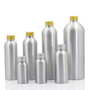 Image 2 - Sedorate 20 pcs/Lot Empty Aluminum Bottles With Aluminum Screw Lid Caps 30ML 50ML 100ML 120ML 150ML 250ML 500ML Container JX156