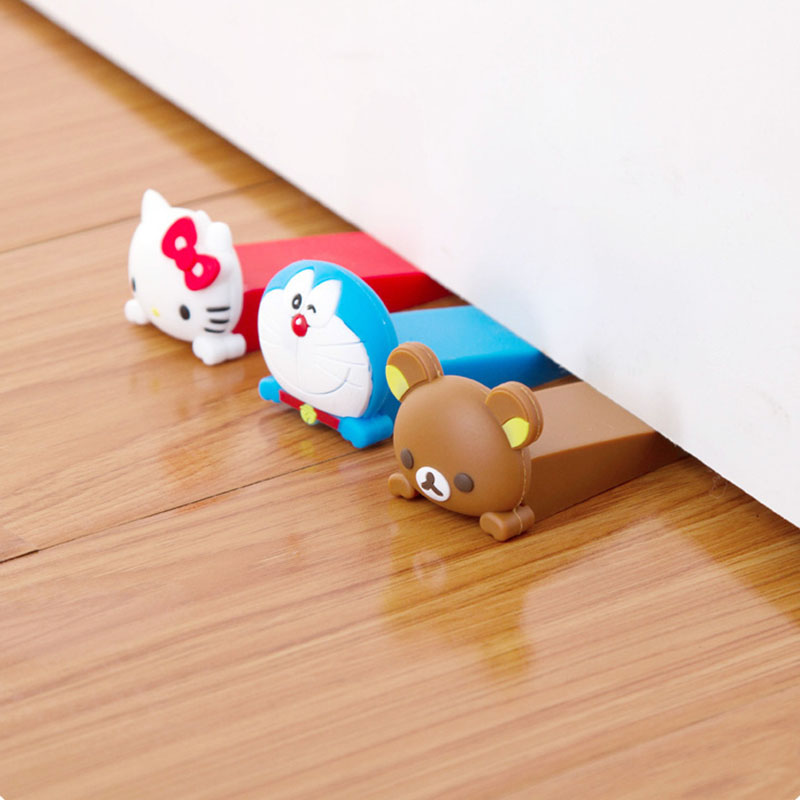 1pc Baby Silicone Cartoon Animal Door Stopper Children Kids Jammers Holder Lock Safety Protect Jammer Finger Corner Guards