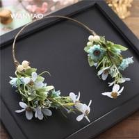 Bride Sweet Headdress Flowers Hair Ornaments Sen Department Of Hair Band Seaside Photo Manual Head Flower