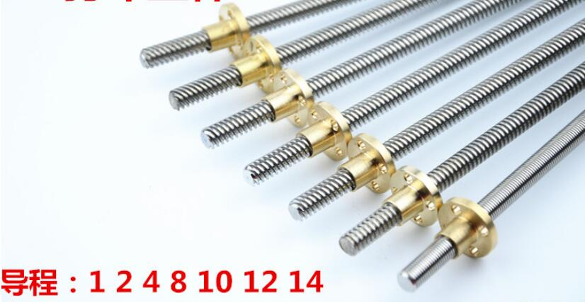hot sale wholesale for leadcsrew 0802 Stainless steel screw take with brass nut 1000mm hot sale cayler