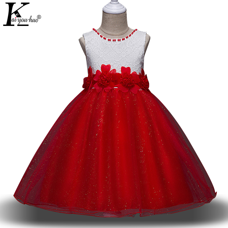 KEAIYOUHUO 2017 Christmas Girls Dress Children Clothes Princess Party Girls Flowers Wedding Dress Kids Dresses For Girls Costume keaiyouhuo new girls clothes summer party girls wedding dress children clothing princess kids dresses for girls costume vestidos