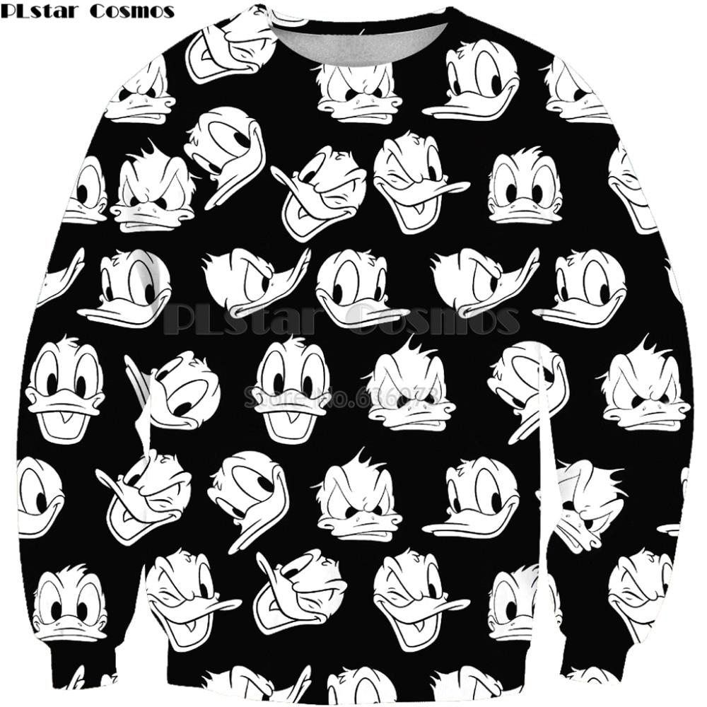 PLstar Cosmos 2019 New Fashion Men 3d Sweatshirt Cartoon Mouse Cute Collage Print Unisex Casual O-Neck Sweatshirts