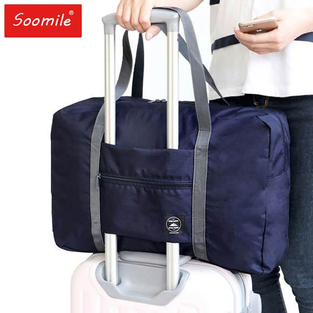 eab259fbdc55 2018 new nylon foldable travel bag unisex Large Capacity Bag Luggage Women  WaterProof Handbags men travel bags Free Shipping
