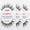 12 pares de Cílios Cílios WSP 100% Humano Cabelo Handmade Cílios Postiços Bagunçado Natureza Cílios maquiagem cílios por Visofree