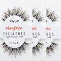 12 pares de Pestañas Naturaleza Desordenada WSP Pestañas 100% Pestañas Falsas Hechas A Mano Del Pelo Humano Pestañas maquiagem cilios por Visofree