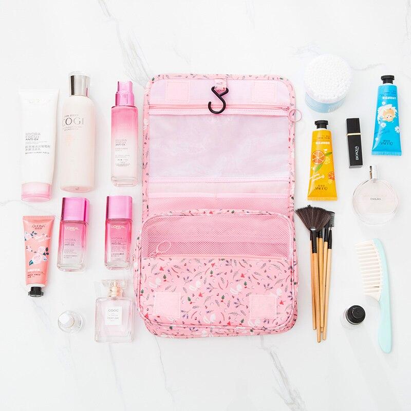 4874a6383f09 US $9.99 |Hanging Makeup Organizer Cosmetic Travel Bag Hanging Toiletry Kit  Large Make up case for Women Men with Hanging Hook Organizer-in Storage ...
