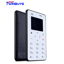 AIEK X6 M5 M3 Card Mobile Phone Ultra Thin Pocket Mini Phone languages phone arabic keyboard FM Aiek M5's Follow Model(Hong Kong)