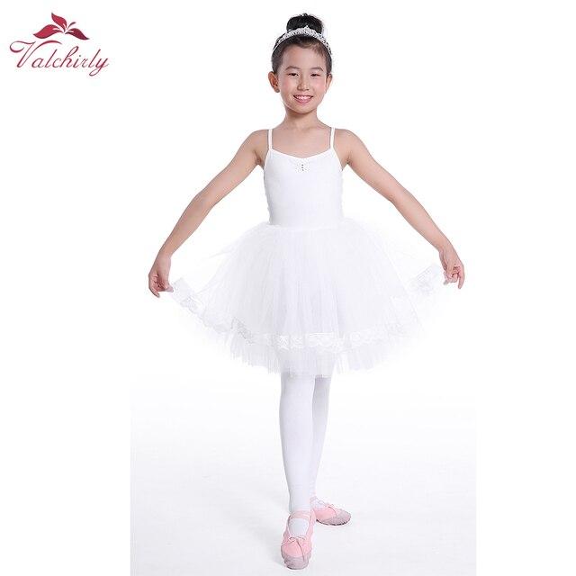 6e07671439 White Ballerina Dress kids Lyrical Dance Costumes Ballet Skirt for Girls  Pink Ballet Dress