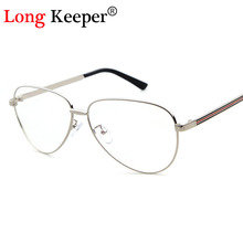 Long Keeper Vintage Unisex Retro Star Oval Metal Frame Clear Lens Glasses Optical spectacles Designer Nerd Geek Eyeglasses 07180