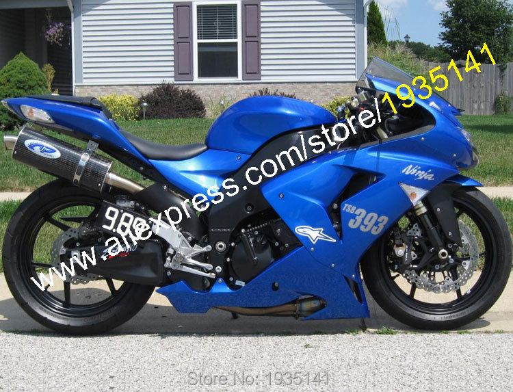 Hot Sales,For Kawasaki NINJA ZX10R 06 07 Parts ZX-10R 2006 2007 ZX 10R Blue Aftermarket Motorbike Fairings (Injection molding) aftermarket free shipping motorcycle parts eliminator tidy tail for 2006 2007 2008 fz6 fazer 2007 2008b lack