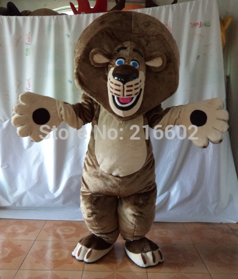 High quality Alex the Lion Madagascar Mascot Costume Halloween Christmas Birthday Props Costumes