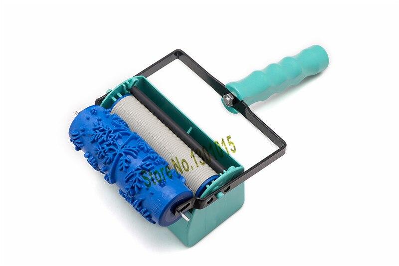 FAI DA TE decorazione della parete strumenti-5 pollice maniglia grip applicatore più 5 pollice modello a parete rullo di pittura 002Y Vernice Strumento set