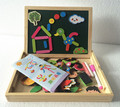 Brinquedos do bebê De Madeira Dupla Face Magnética Desenho Bordo Edifício Puzzle Crianças Aprendendo/Brinquedos Educativos Presente de Aniversário Infantil