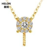 Solid 14k Yellow Gold 0.08ct Natural Diamonds Women Pendant 8 15mm Pearl Semi Mount Pendant Setting No Necklace