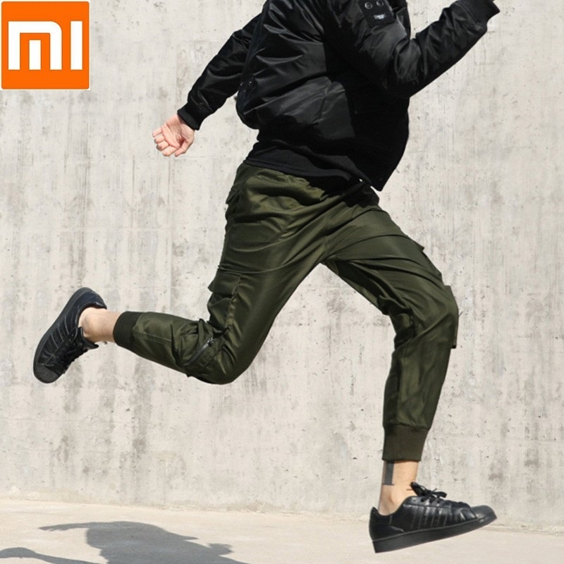 Xiaomi ULEEMARK Tooling Trousers Beam foot Sweatpants Loose Leisure Overalls Handsome Retro Trend Memory Fabric for