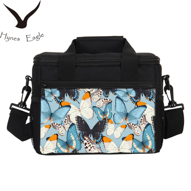 Hynes Eagle Lunch Bags Fashion Butterfly Printing Picnic Food