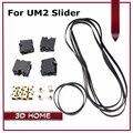 Peça Da Impressora 3D Ultimaker 2 UM2 DIY Original Injeção Slider Com Luva de cobre + Bloco Deslizante Primavera + GT2 610 200 Cinto Timging