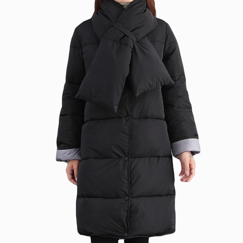 D'hiver Black Rembourré Femmes Qualité Zl855 kakhi Chaud Coton Mode Thicer Nouvelles Lâche Solide De Écharpe Famela 2017 Haute Parka Veste mNn8w0