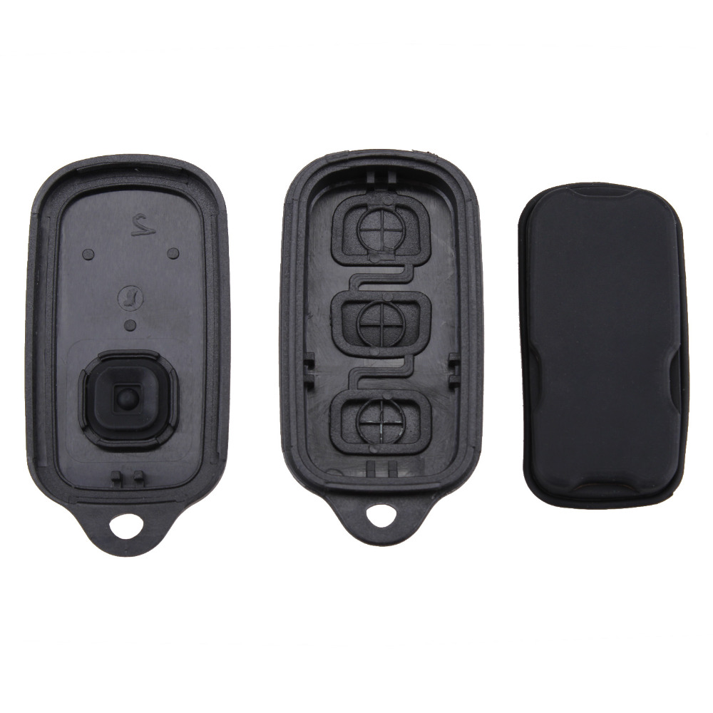 Key Shell Exterior Parts 3+1 Buttons Replacement Keyless Key Shell Flip Fob Remote Clicker Pad Key Case Cover Repair For Toyota Hyq1512y 4 Runner Sequoia