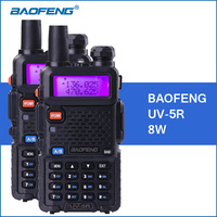 BAOFENG UV 5R 8W Walkie Talkie 1800mah UHF VHF Dual Band UV 5R Portable Baofeng Walkie
