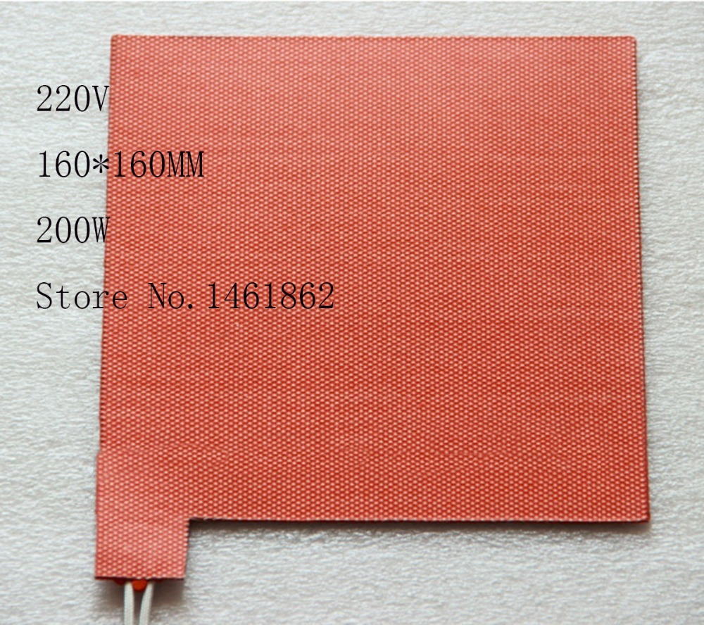 160X160mm,200W ,220V,Custom Design Flexible Silicone Rubber Heater Silicone Heater rectangle Auxiliary heating of oil pan 200mm x 200mm 500w 110v ntc 100k custom design size silicone heater 3d printer heating auxiliary heating of oil pan tools film