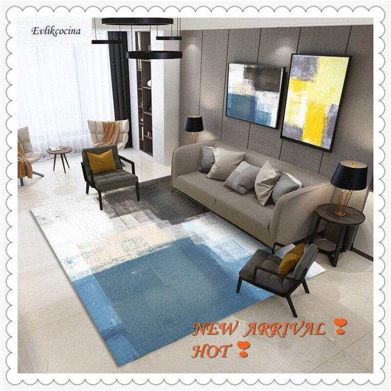 Livraison gratuite bleu blanc noir mélange couleur tapis chambre tapis de sol tapis Tapeti Casa moderne chambre Tapete Para Sala Alfombra