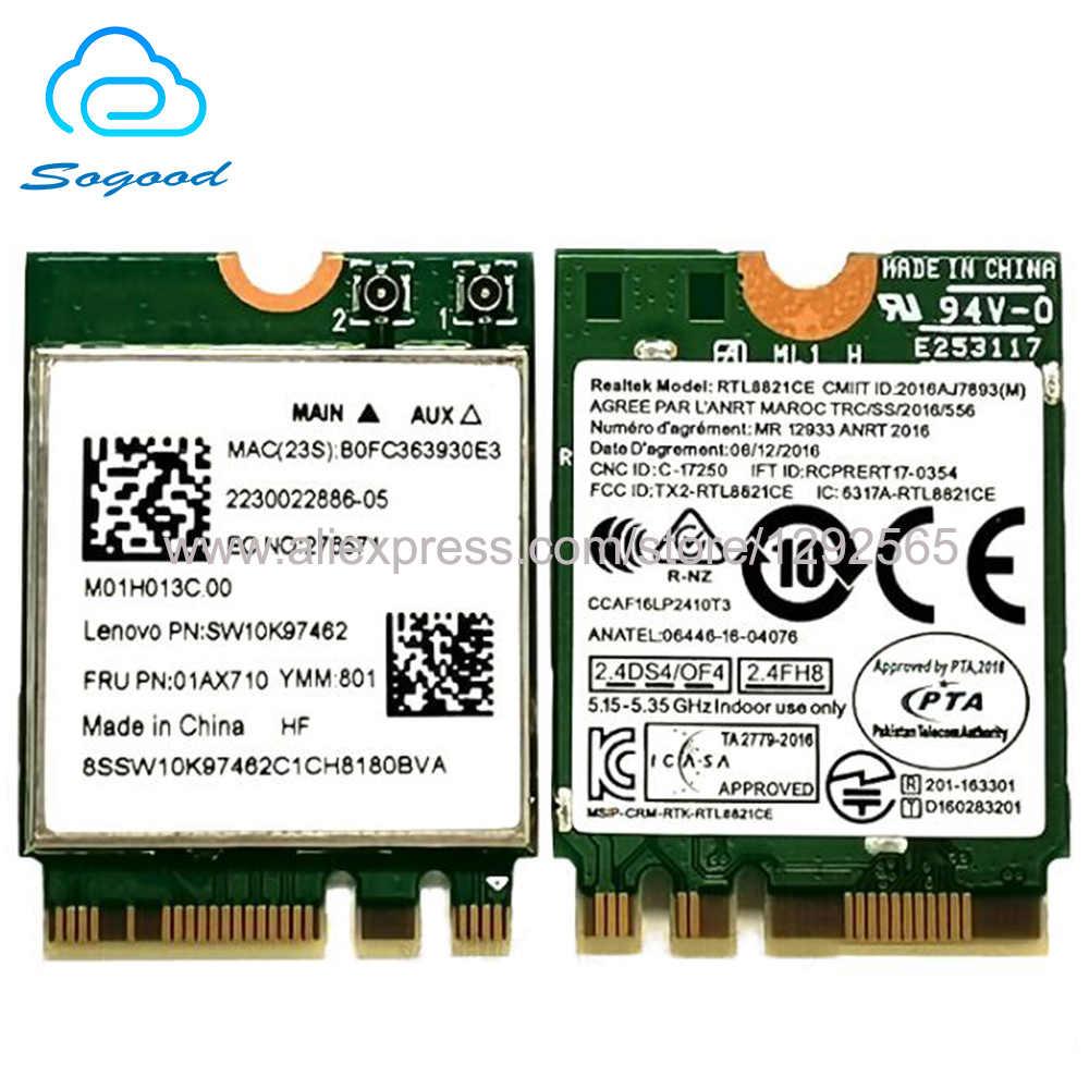 Original Realtek RTL8821CE 802 11AC 1X1 NGFF/M 2 interface dual band 2 4G  5G bluetooth 4 2 wireless network card FRU 01AX710