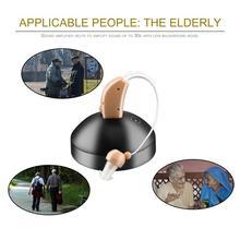 Новые Аккумуляторные Слуховые Аппараты Портативный Усилитель Голоса Звука За Ушом Для Пожилых Ушей У