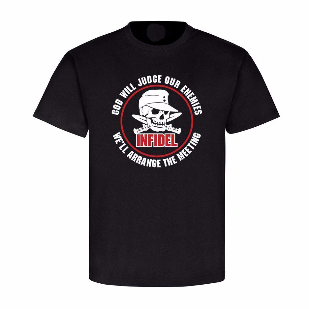 Male Best Selling T Shirt German Infidel God Will Judge