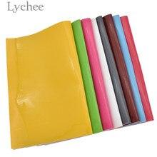 Mirror Fabric Fake Leather Diy-Material Solid-Color A4 Bag PVC for Handbag Garments 29x21cm