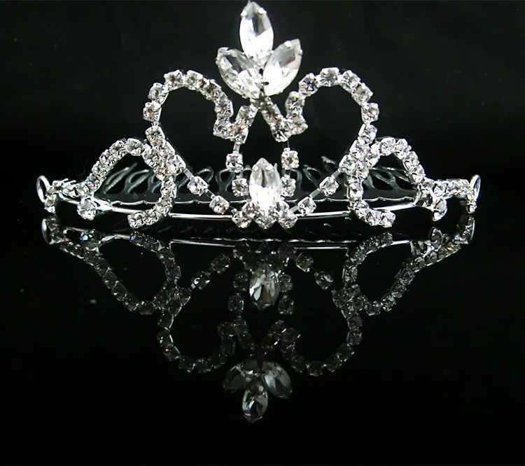 детская маленькая тиара головной убор свадебный цветок невесты девушка кристалл тиары повязка на голову