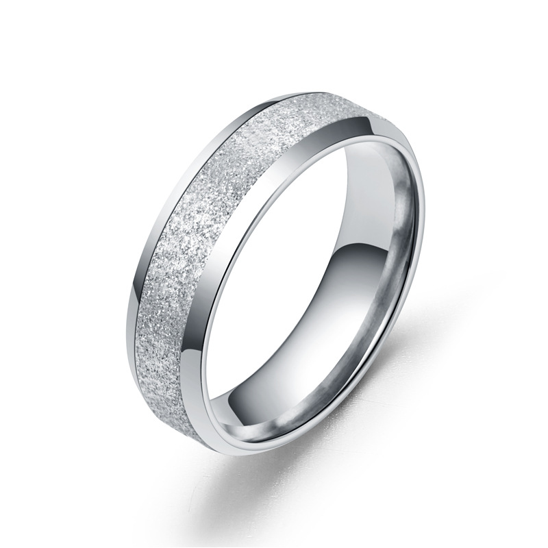 Fashion new stainless steel matte couple titanium steel ring jewelry jewelry accessories ring in Engagement Rings from Jewelry Accessories
