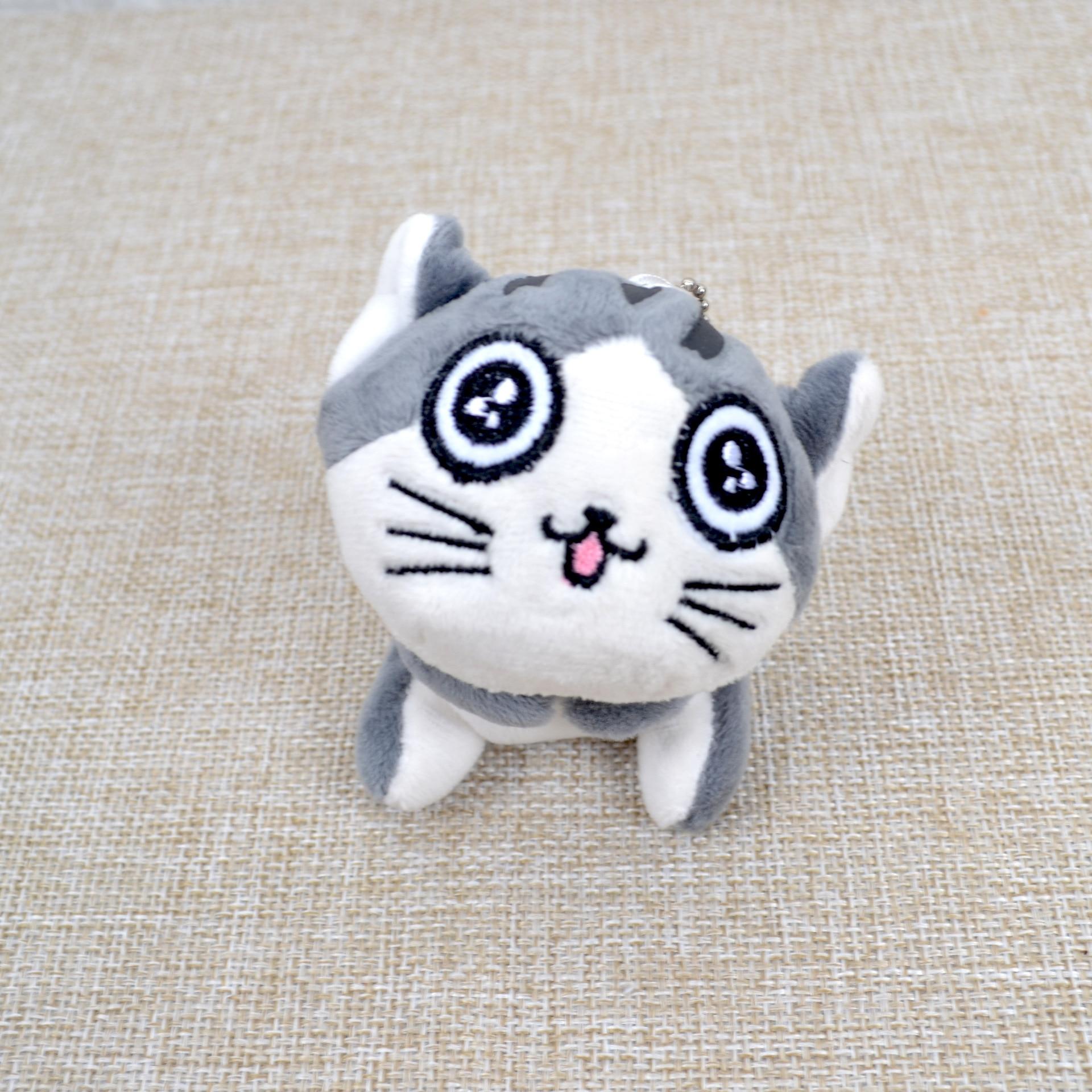 Kawaii серый сидя 9 см кошка плюшевые мягкие игрушки, букет подарок мягкая плюшевая кошка кукла, брелок с котом плюшевая игрушка цветок кошка кукла подарок