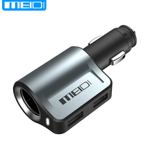 MEIDI Car Charger USB in Mobile Phone Chargers 2.1A and 1A 2 Port+40W Cigarette Lighter Adapter Charger Car in Mobile Phones