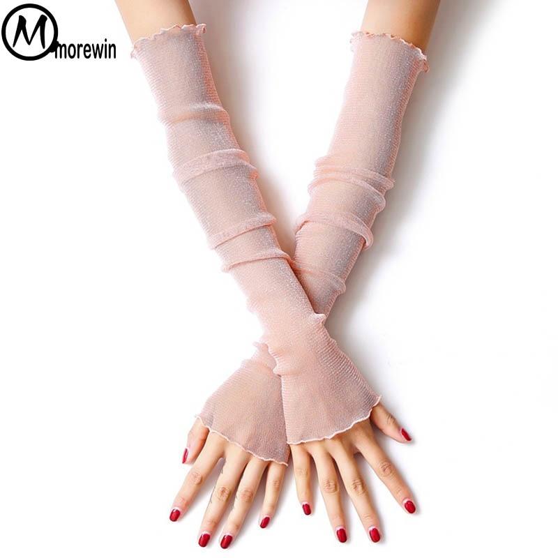 Fashion Summer Fingerless Arm Warmer Decent Thin Stretch Long Fingerless Driving Gloves Women  Elegent Dating Sleeves Gloves New
