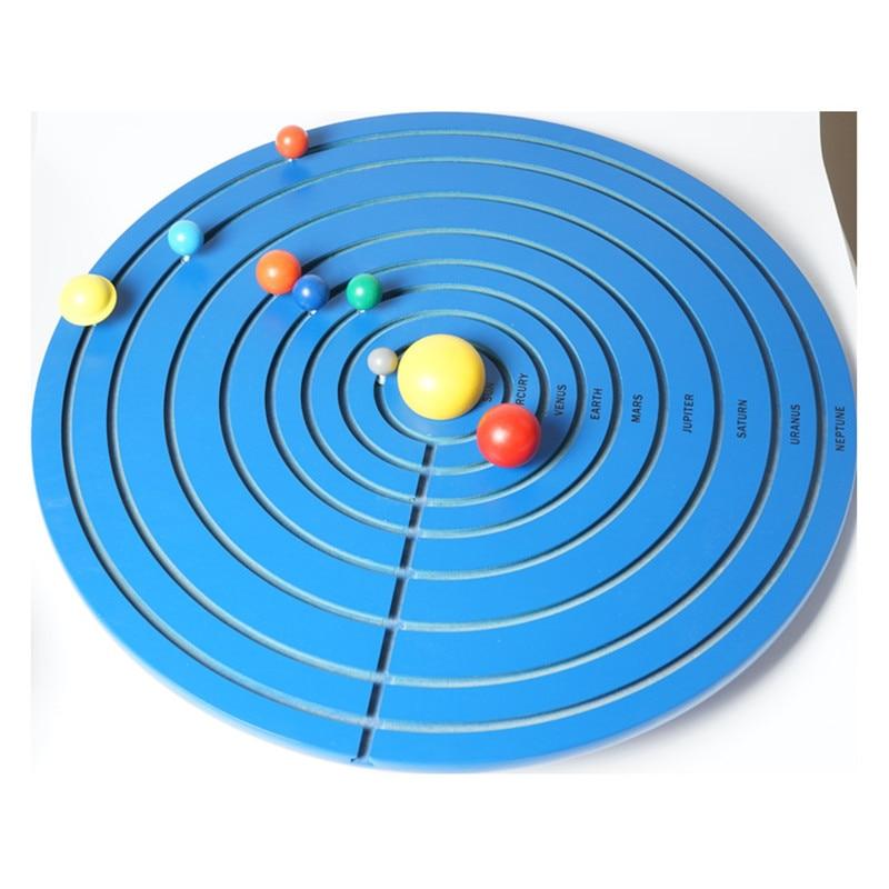 Nouveau jouet en bois pour bébé Montessori Science et Culture enseigner les huit planètes jouets éducatifs pour bébé
